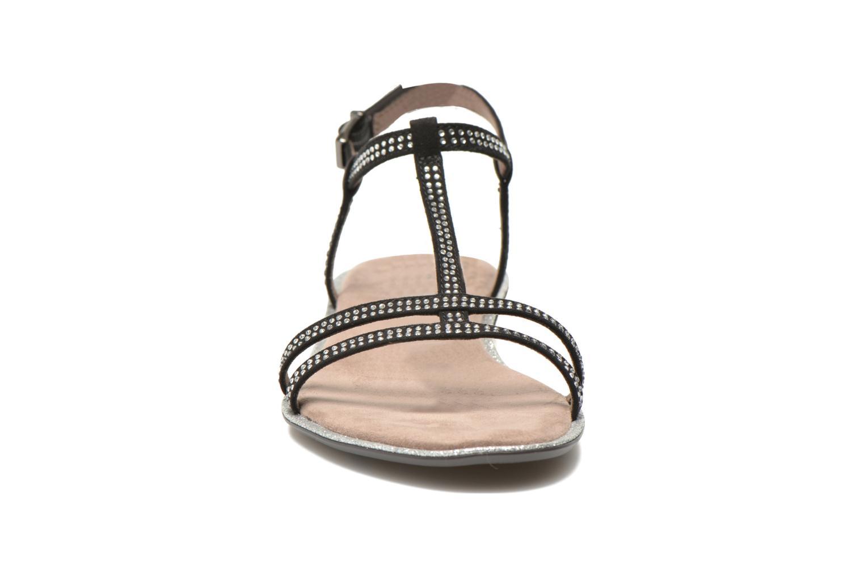 Sandales et nu-pieds Tamaris Lubela Noir vue portées chaussures