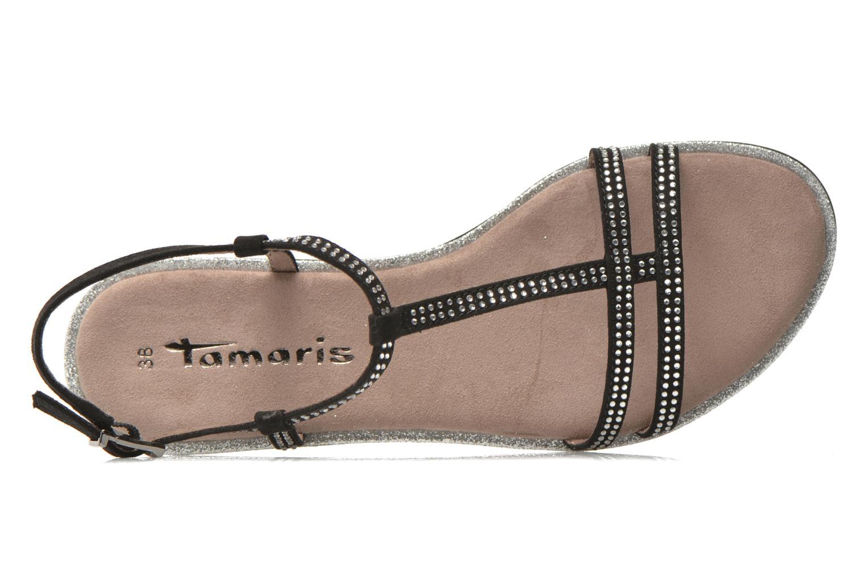 Sandalias Tamaris Lubela Negro vista lateral izquierda