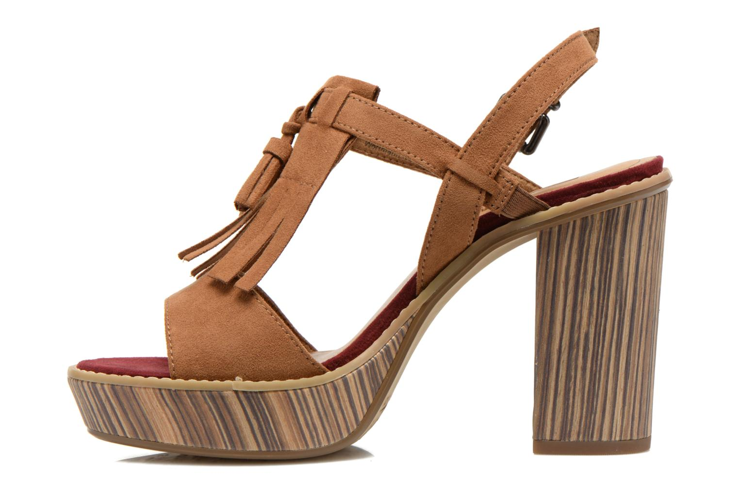 Sandals Tamaris Sylvana Brown front view