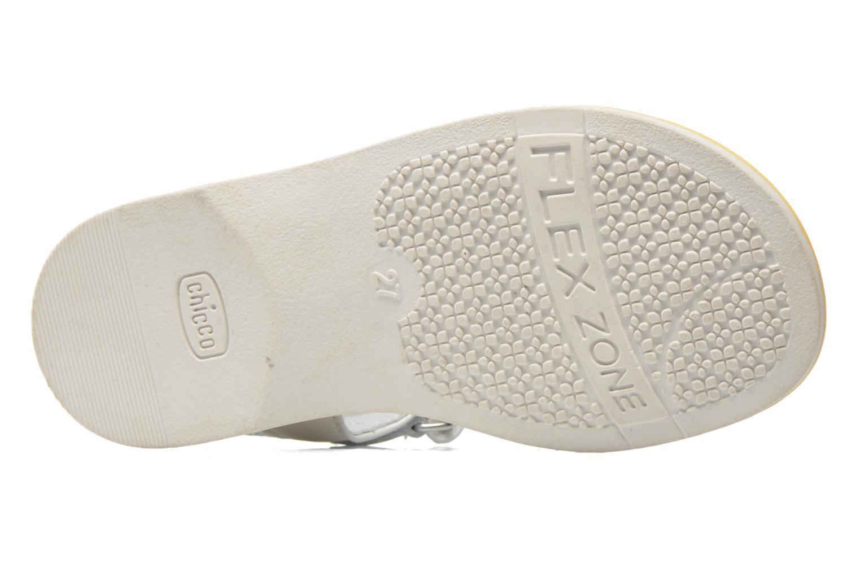 Sandales et nu-pieds Chicco Clizia Blanc vue haut