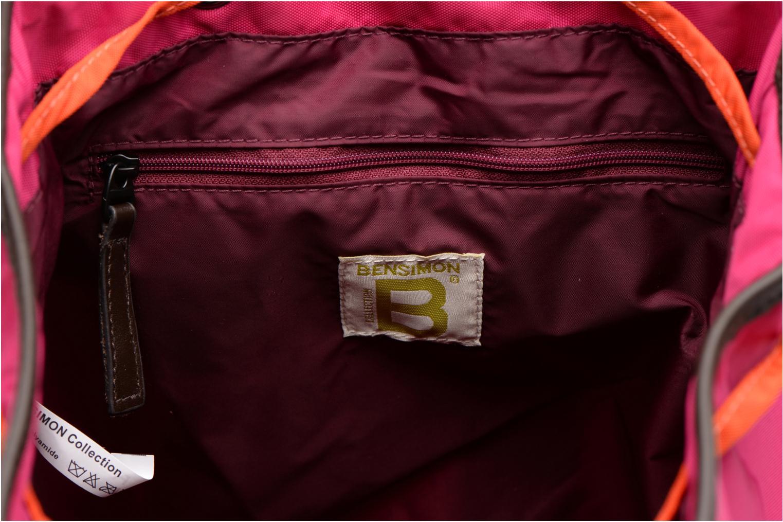 Sacs à dos Bensimon Authentic backpack Rose vue derrière