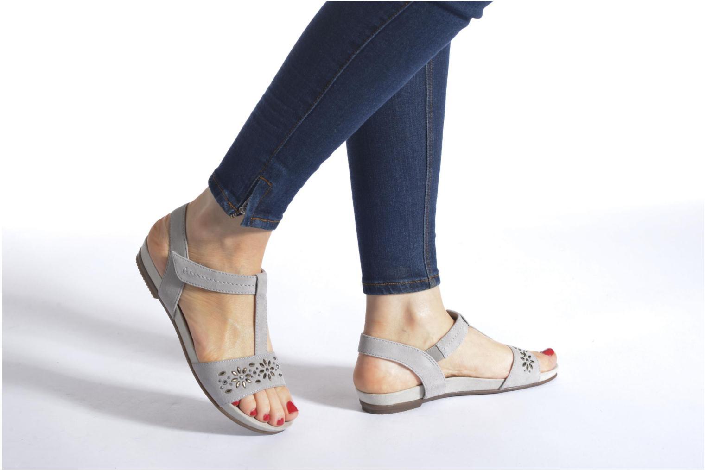 Sandales et nu-pieds Jana shoes Likia Bleu vue bas / vue portée sac