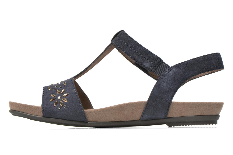 Sandales et nu-pieds Jana shoes Likia Bleu vue face