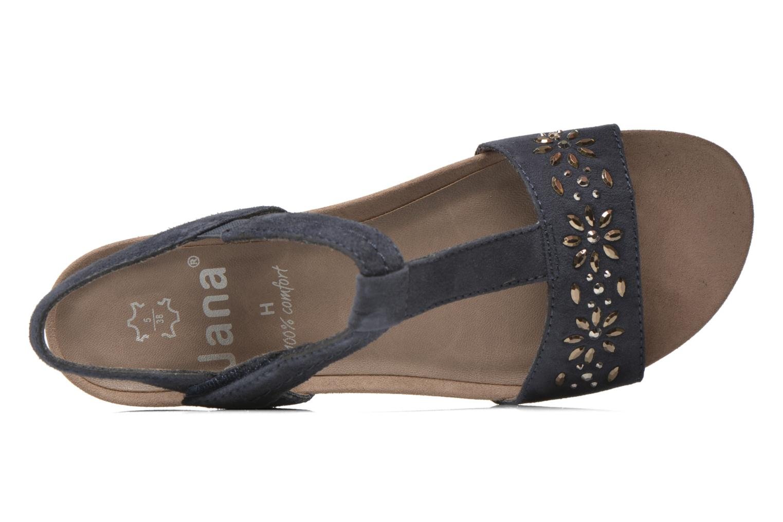 Sandales et nu-pieds Jana shoes Likia Bleu vue gauche
