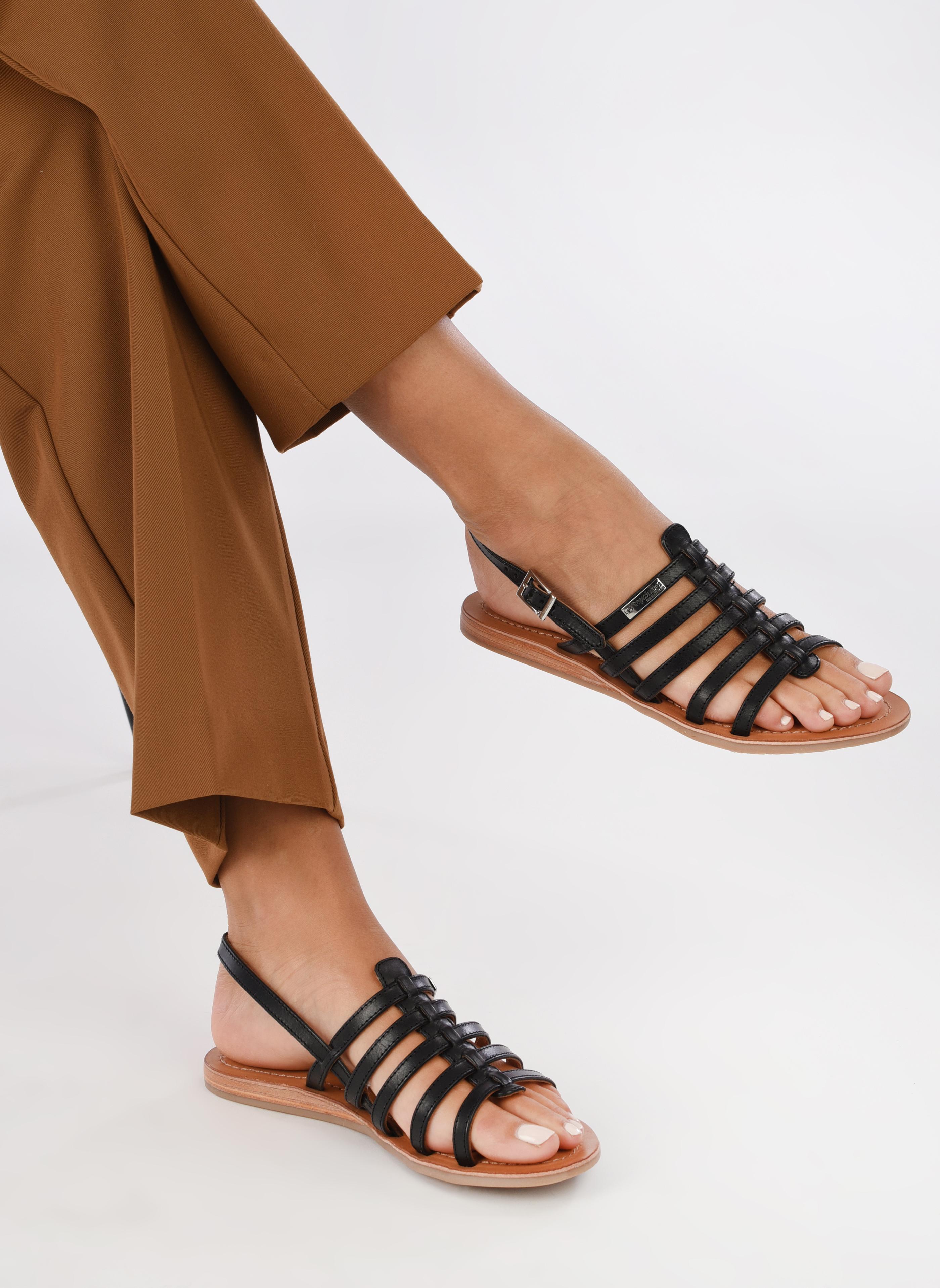 Sandalen Les Tropéziennes par M Belarbi Havapo schwarz ansicht von unten / tasche getragen