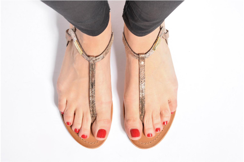 Sandales et nu-pieds Les Tropéziennes par M Belarbi Billy Or et bronze vue bas / vue portée sac