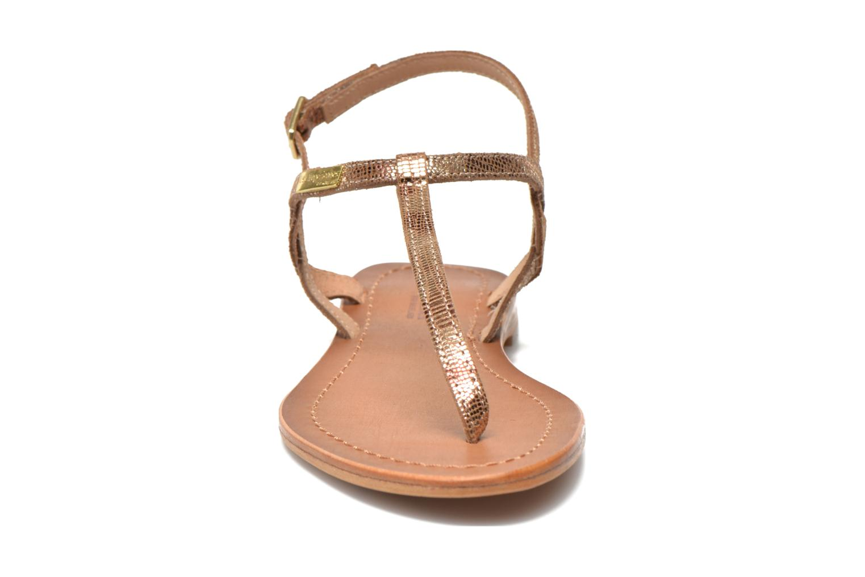 Sandales et nu-pieds Les Tropéziennes par M Belarbi Billy Or et bronze vue portées chaussures