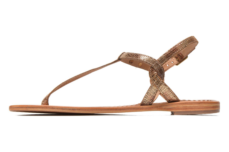 Sandales et nu-pieds Les Tropéziennes par M Belarbi Billy Or et bronze vue face
