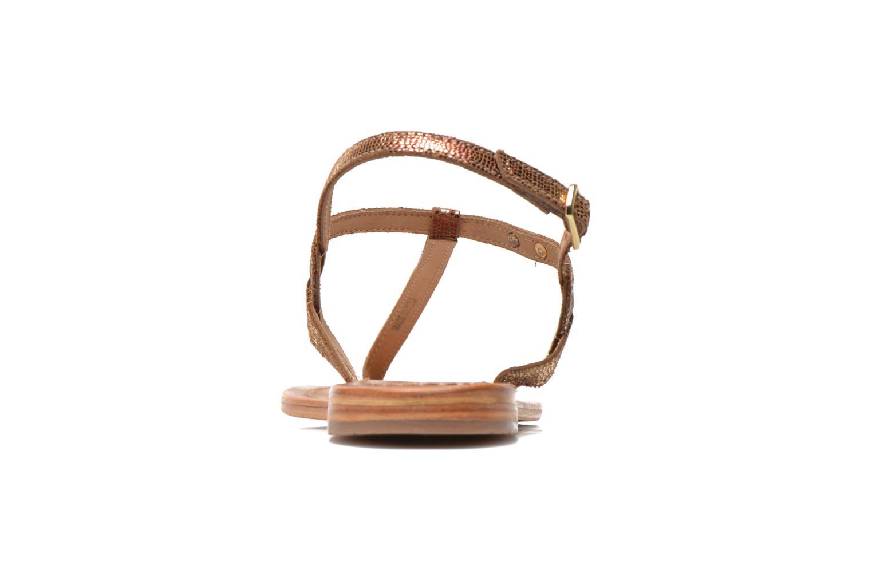 Sandales et nu-pieds Les Tropéziennes par M Belarbi Billy Or et bronze vue droite