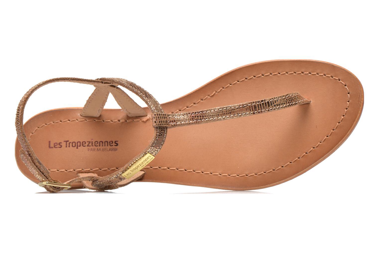 Sandales et nu-pieds Les Tropéziennes par M Belarbi Billy Or et bronze vue gauche