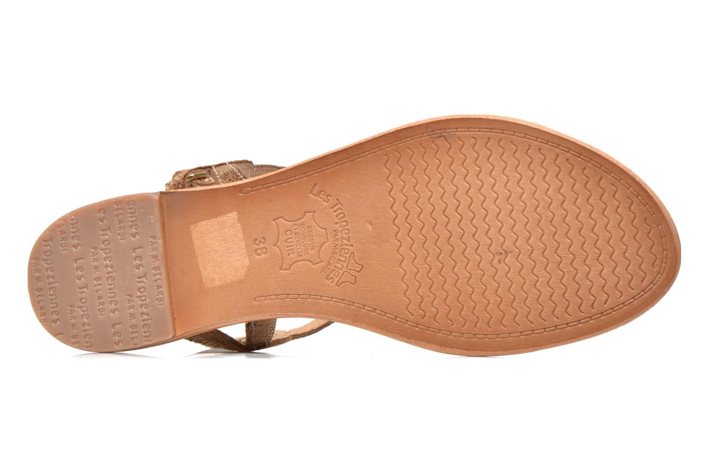 Sandales et nu-pieds Les Tropéziennes par M Belarbi Billy Or et bronze vue haut