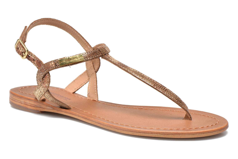 Sandales et nu-pieds Les Tropéziennes par M Belarbi Billy Or et bronze vue détail/paire
