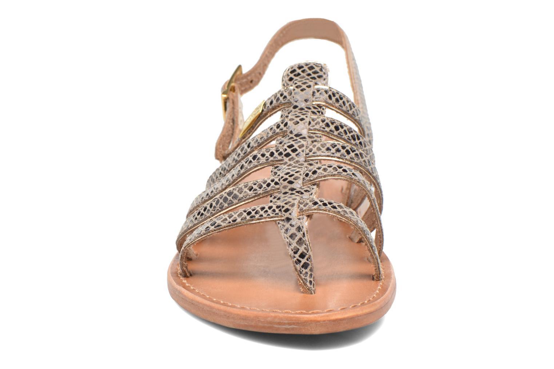 Sandales et nu-pieds Les Tropéziennes par M Belarbi Herbier Gris vue portées chaussures