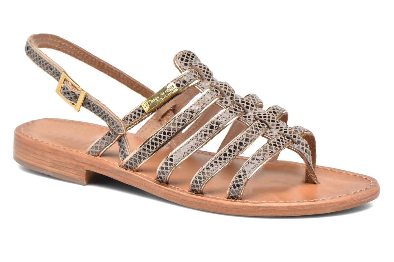 Sandales et nu-pieds Les Tropéziennes par M Belarbi Herbier Gris vue détail/paire