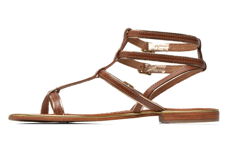 Sandales et nu-pieds Les Tropéziennes par M Belarbi Bristol Marron vue face