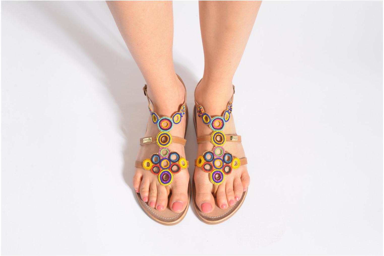Sandales et nu-pieds Les Tropéziennes par M Belarbi Ofelie Beige vue bas / vue portée sac