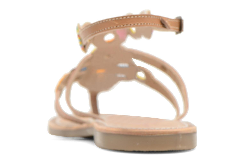 Sandales et nu-pieds Les Tropéziennes par M Belarbi Ofelie Beige vue droite