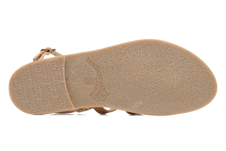 Sandales et nu-pieds Les Tropéziennes par M Belarbi Ofelie Beige vue haut