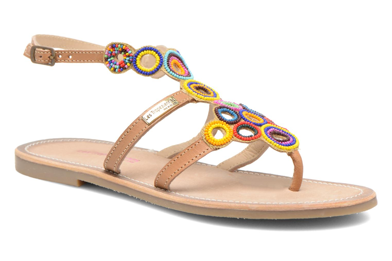 Sandales et nu-pieds Les Tropéziennes par M Belarbi Ofelie Beige vue détail/paire