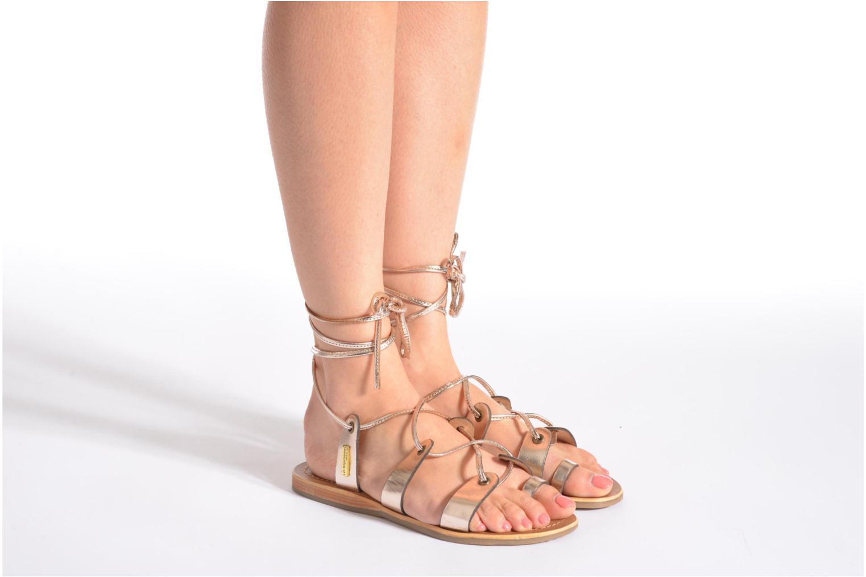 Sandalen Les Tropéziennes par M Belarbi Bird gold/bronze ansicht von unten / tasche getragen