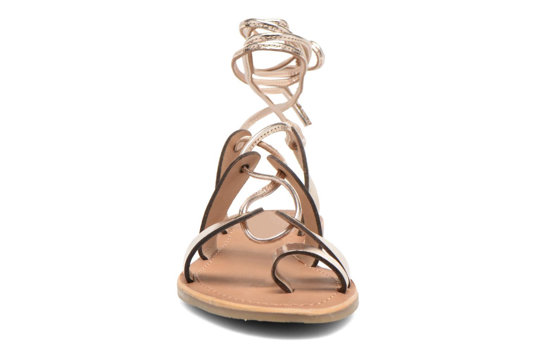 Sandales et nu-pieds Les Tropéziennes par M Belarbi Bird Or et bronze vue portées chaussures
