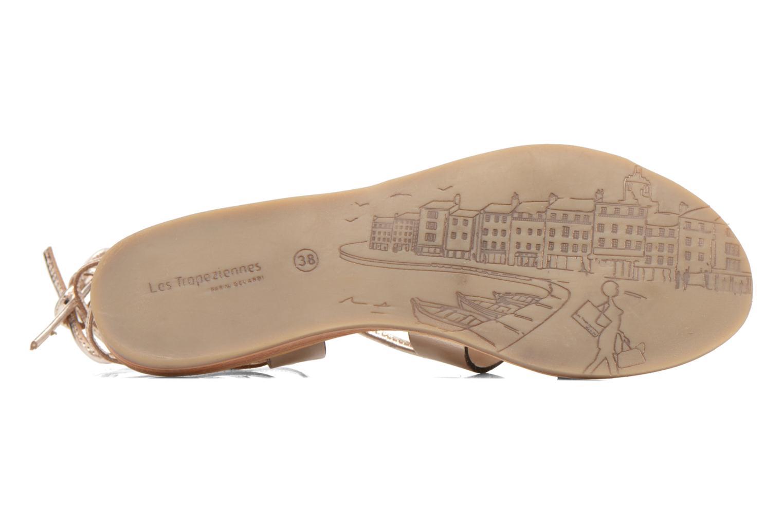 Sandales et nu-pieds Les Tropéziennes par M Belarbi Bird Or et bronze vue haut
