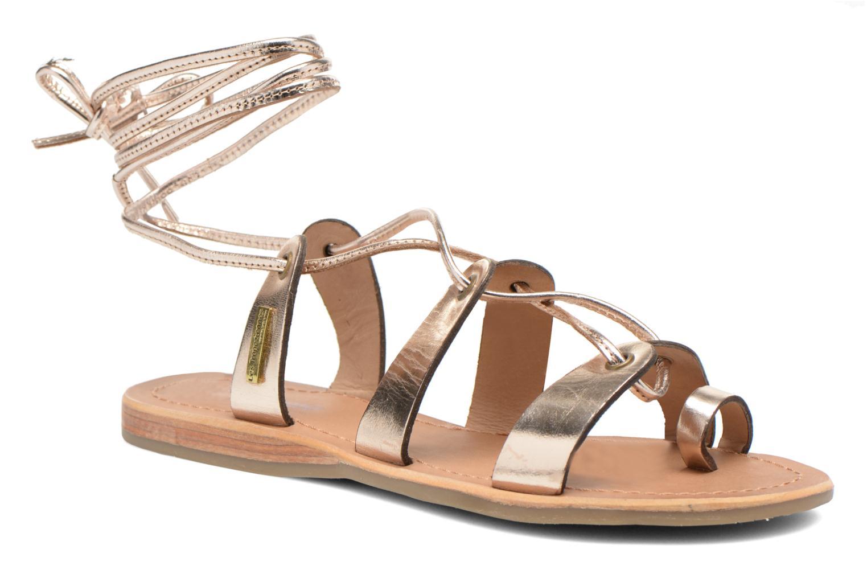 Sandales et nu-pieds Les Tropéziennes par M Belarbi Bird Or et bronze vue détail/paire