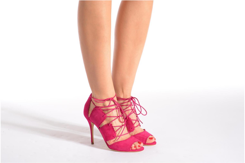 Sandalen L.K. Bennett Jerry rosa ansicht von unten / tasche getragen