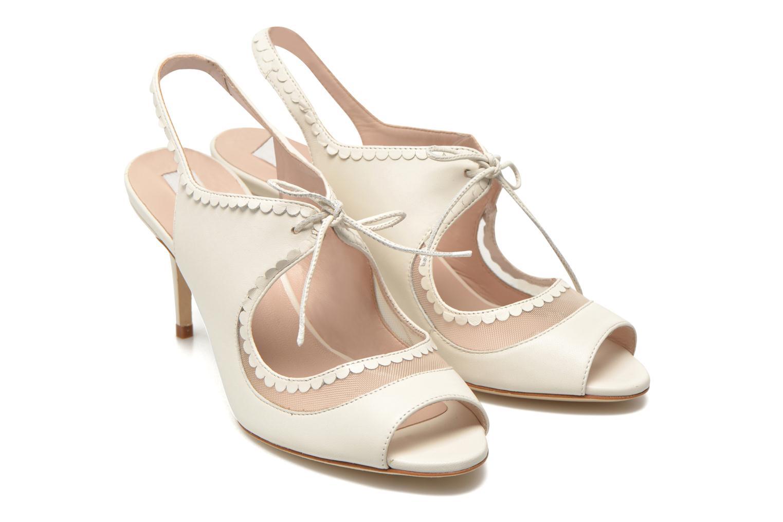 Sandales et nu-pieds L.K. Bennett Lois 2 Blanc vue 3/4
