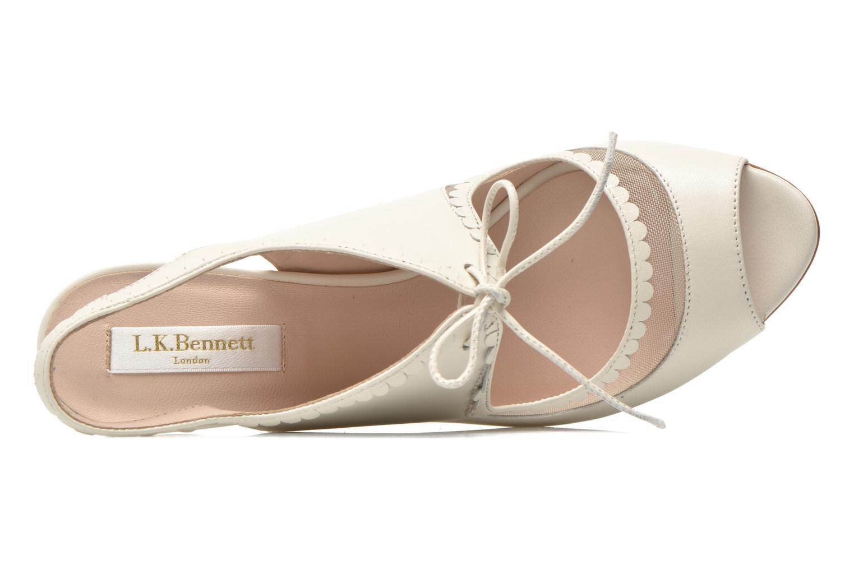 Sandales et nu-pieds L.K. Bennett Lois 2 Blanc vue gauche