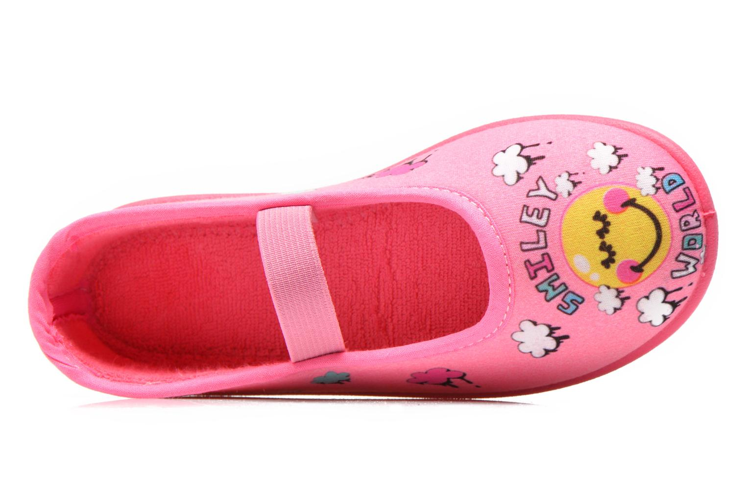 Chaussons Be Only Ballerine Smiley Cloud Rose vue gauche