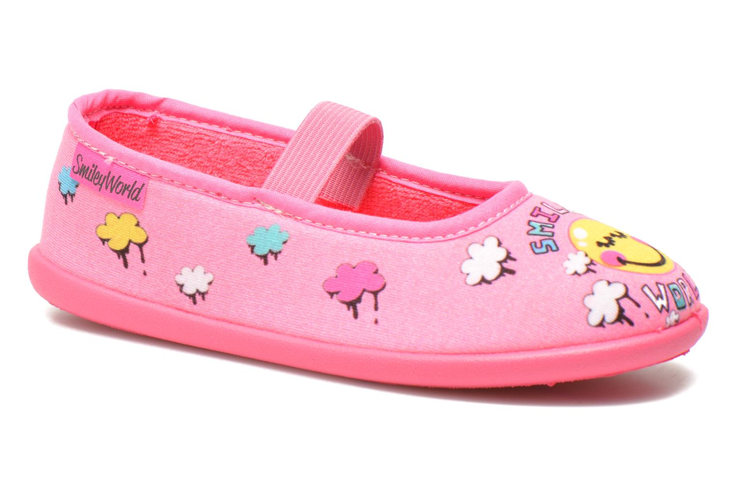 Chaussons Be Only Ballerine Smiley Cloud Rose vue détail/paire