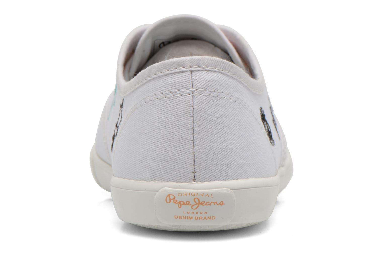 Baskets Pepe jeans Soho Draw Blanc vue droite