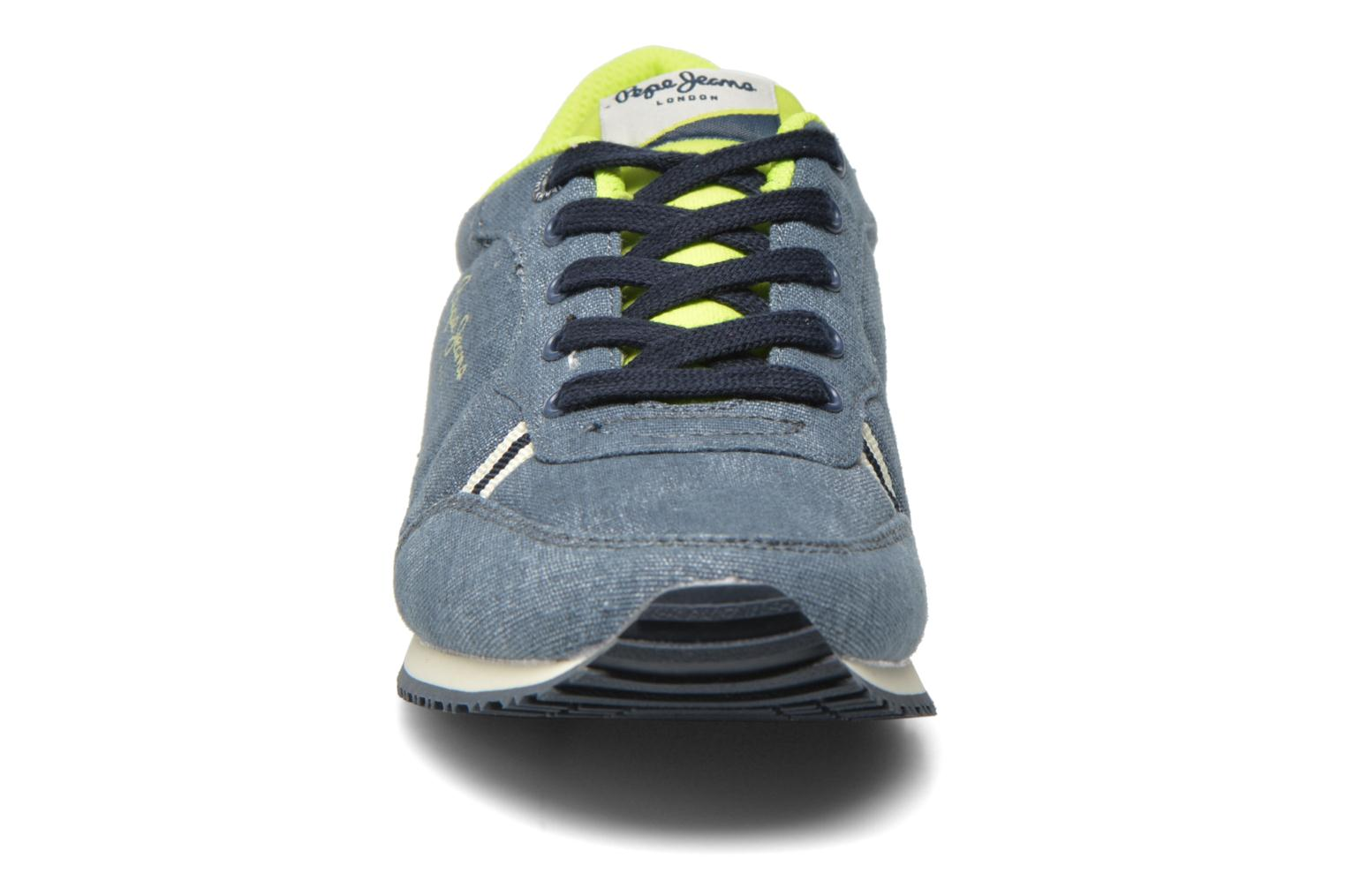 Trainers Pepe jeans Sydney Canvas Blue model view
