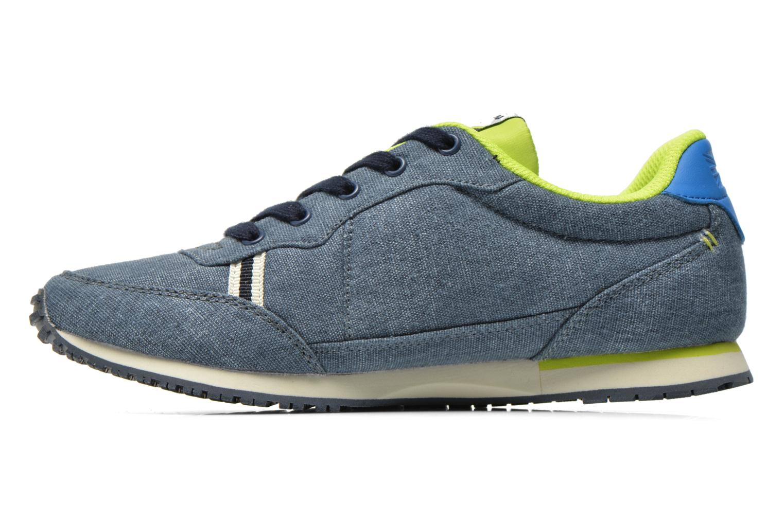Trainers Pepe jeans Sydney Canvas Blue front view