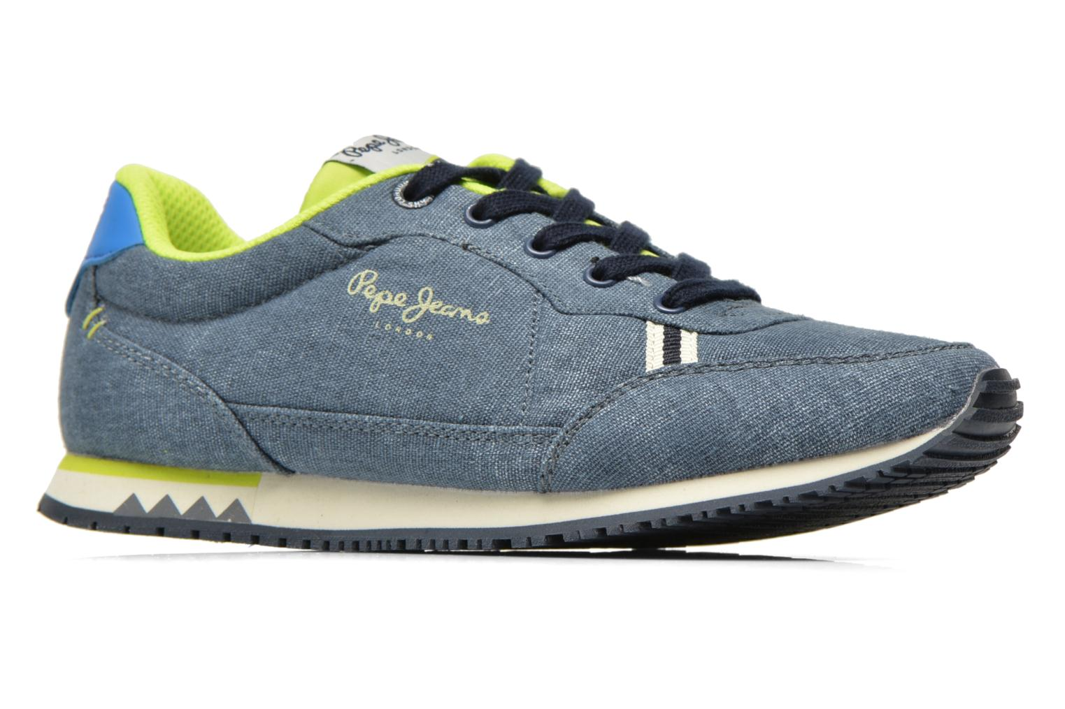 Trainers Pepe jeans Sydney Canvas Blue back view