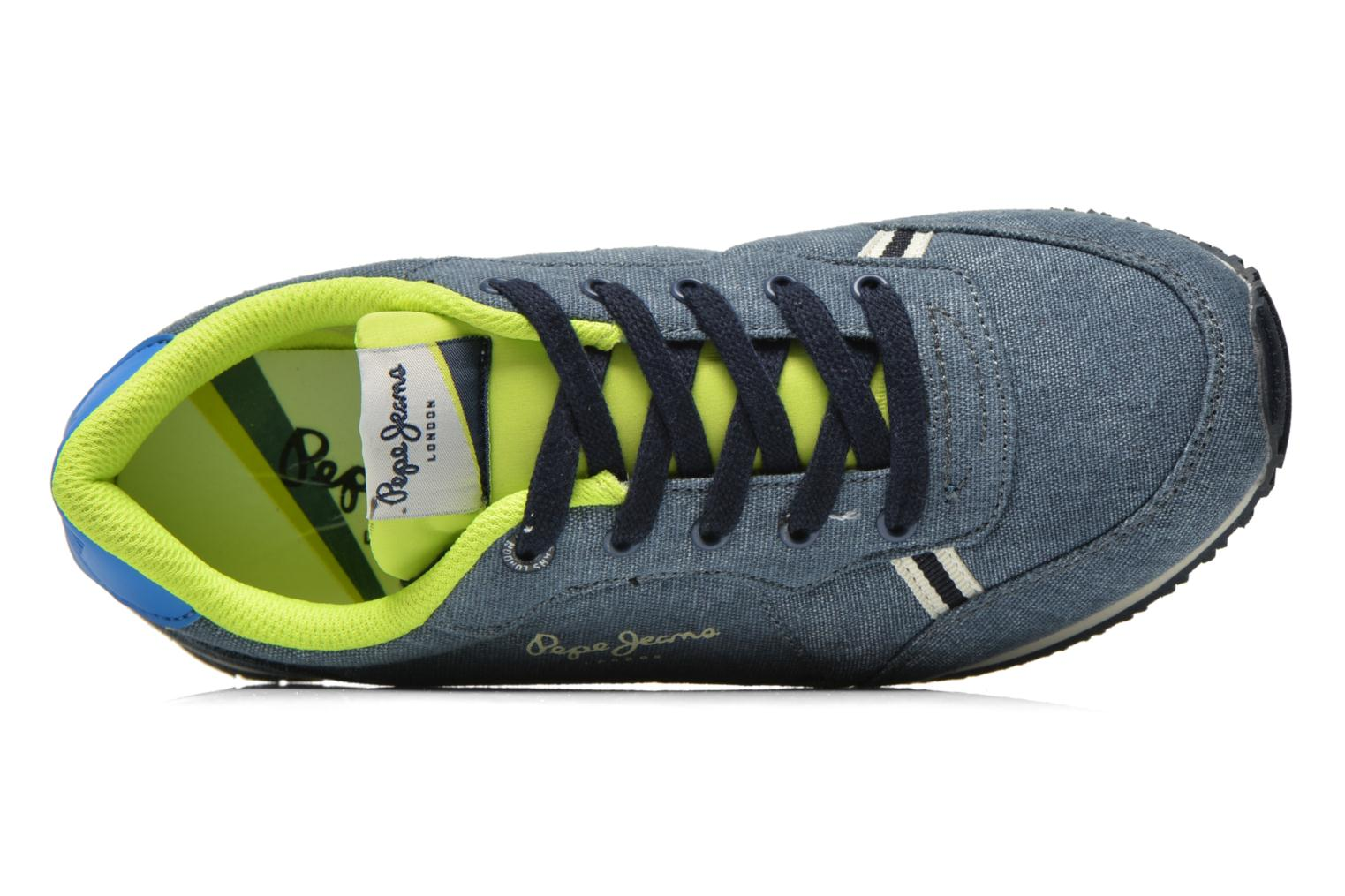 Trainers Pepe jeans Sydney Canvas Blue view from the left