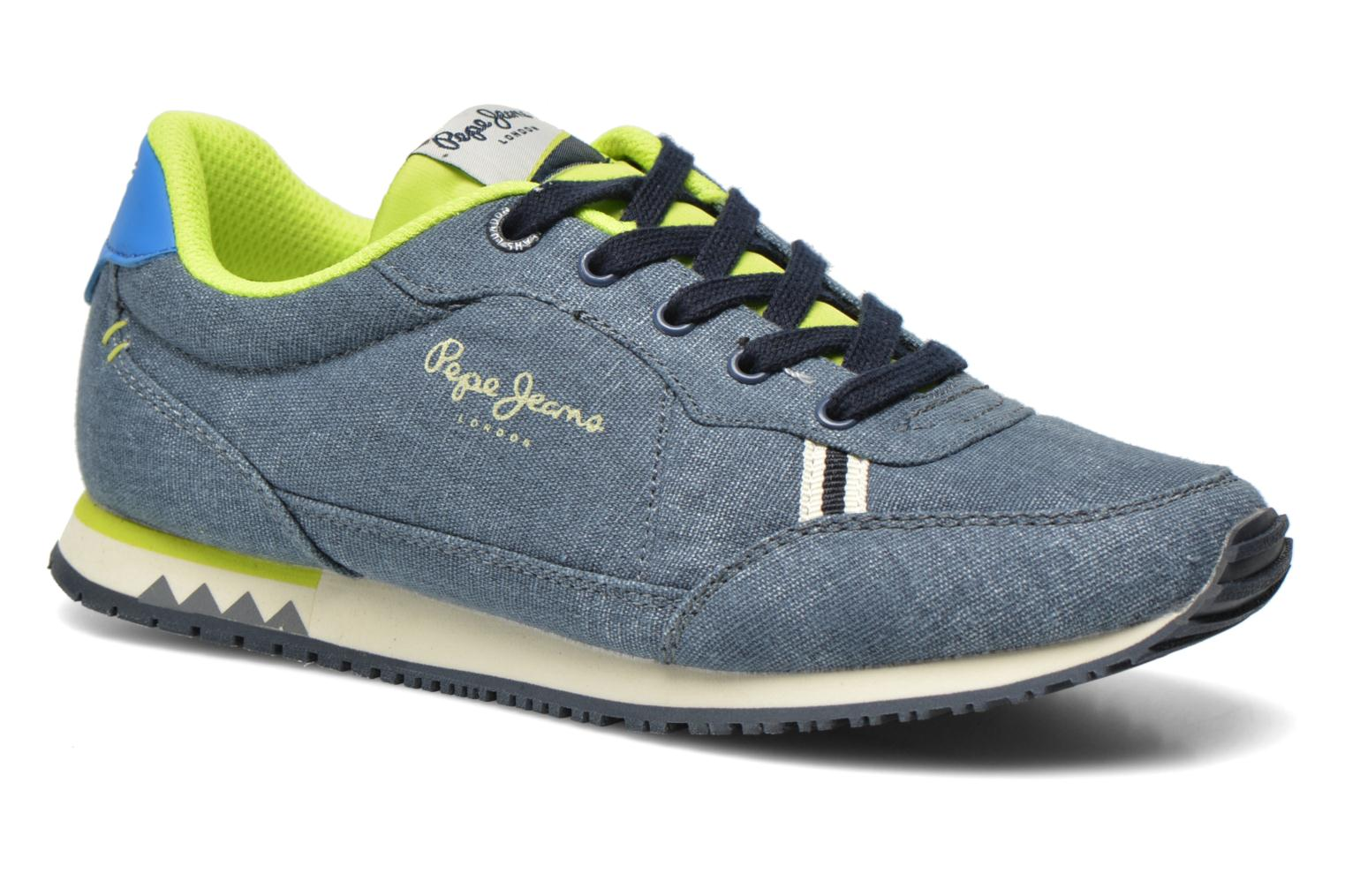 Trainers Pepe jeans Sydney Canvas Blue detailed view/ Pair view