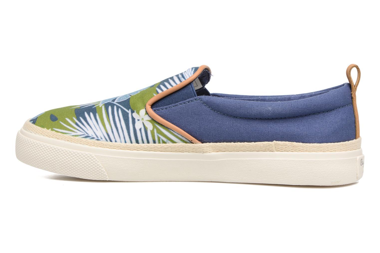 Baskets Pepe jeans Traveler Aloha Bleu vue face