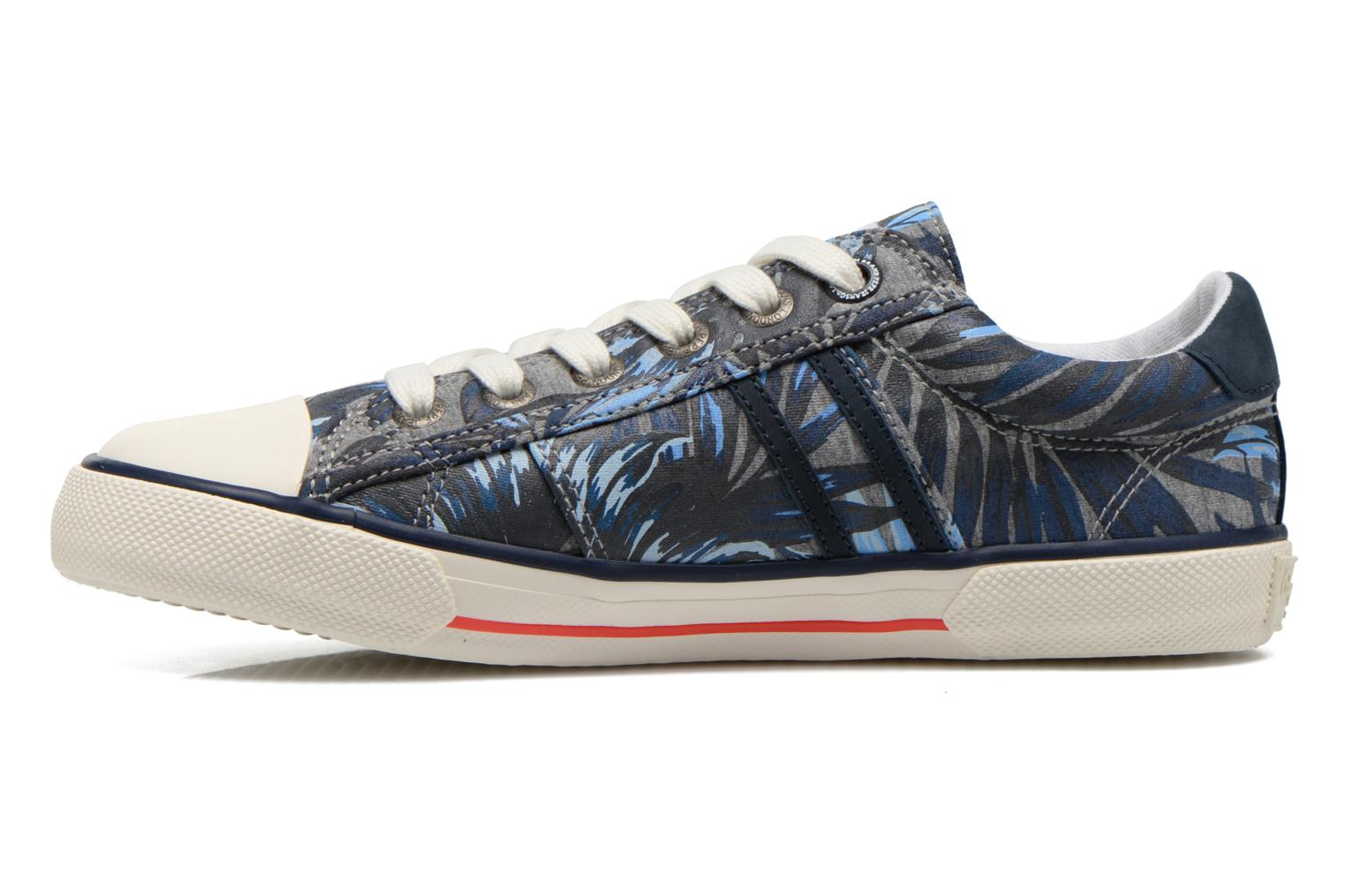 Trainers Pepe jeans Serthi Flowers Grey front view