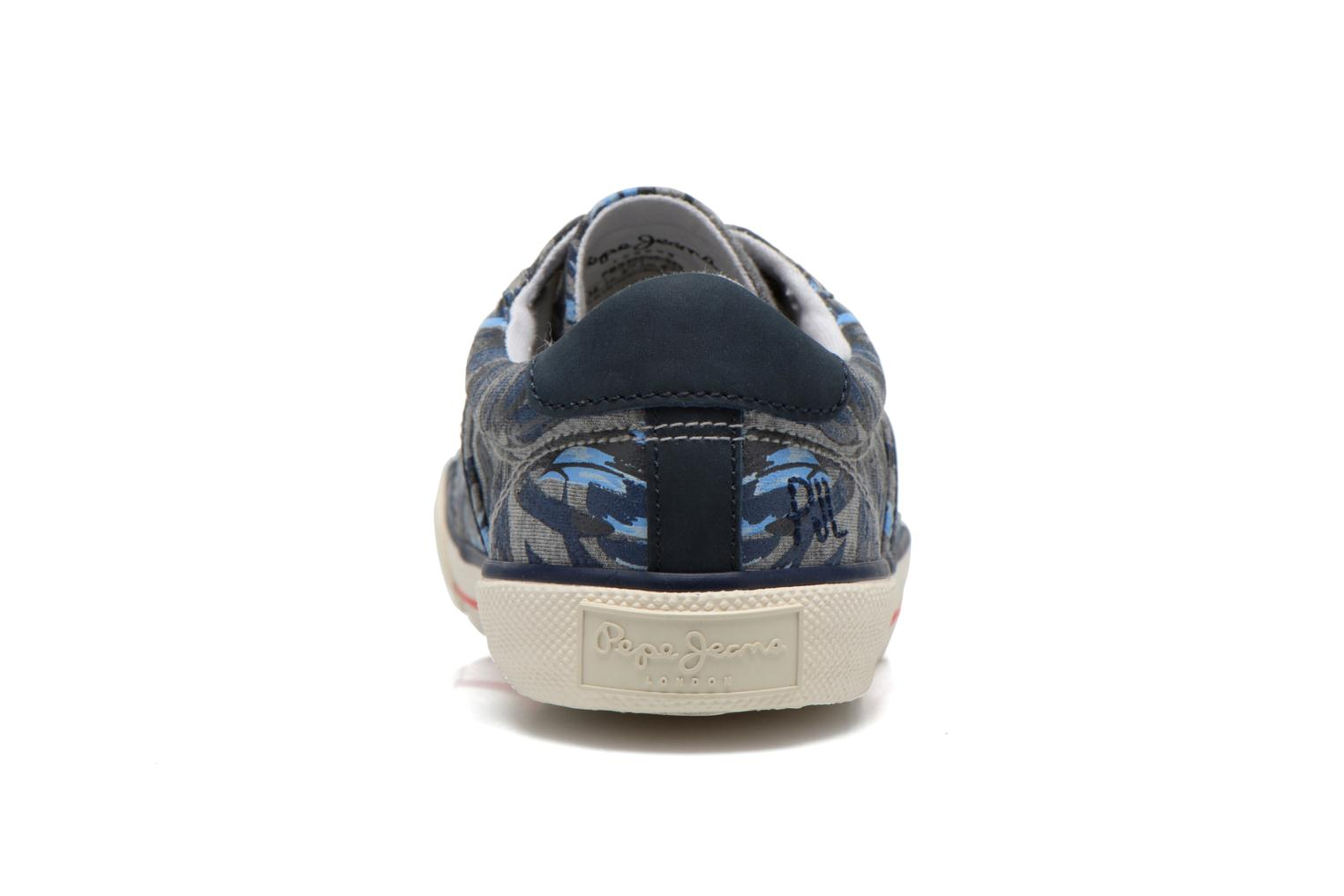 Trainers Pepe jeans Serthi Flowers Grey view from the right