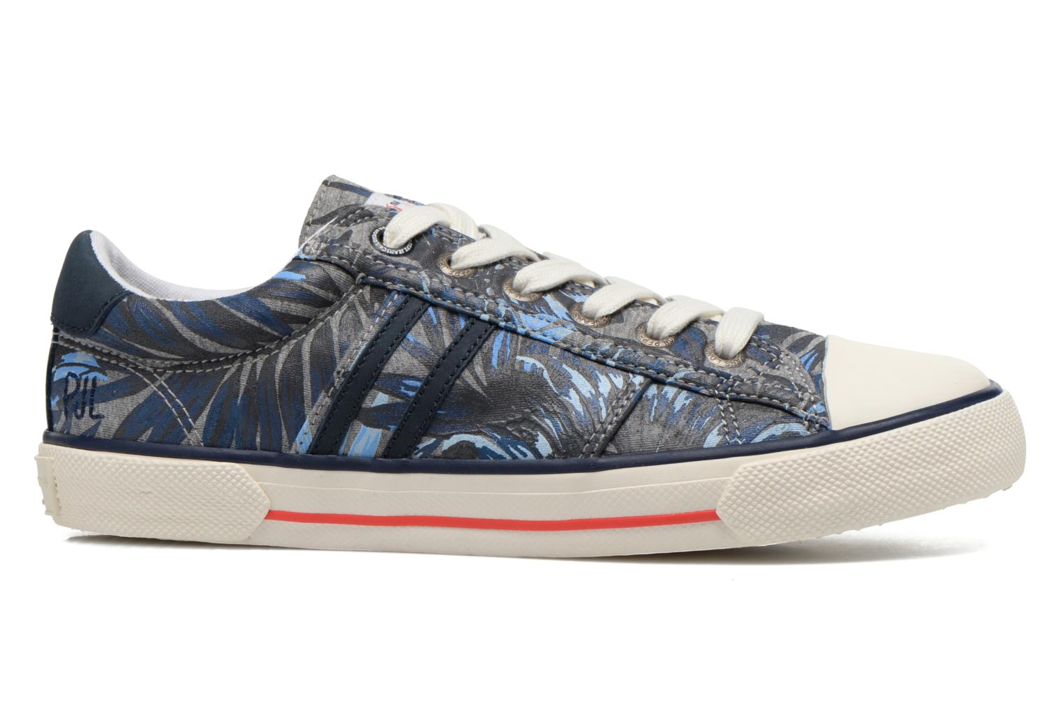 Trainers Pepe jeans Serthi Flowers Grey back view