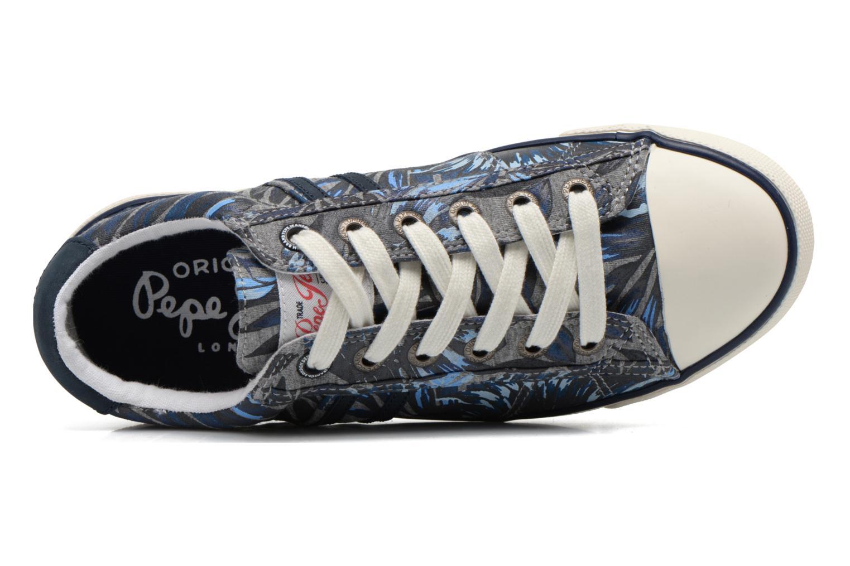 Sneaker Pepe jeans Serthi Flowers grau ansicht von links