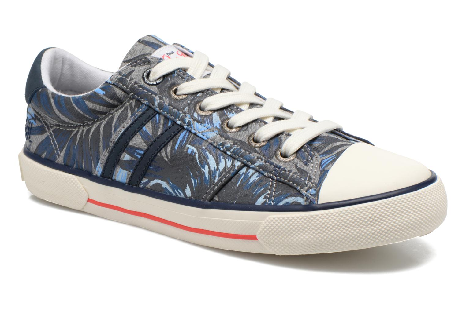 Trainers Pepe jeans Serthi Flowers Grey detailed view/ Pair view