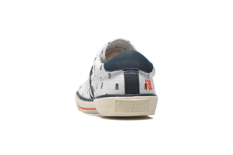 Baskets Pepe jeans Serthi Skulls Blanc vue droite