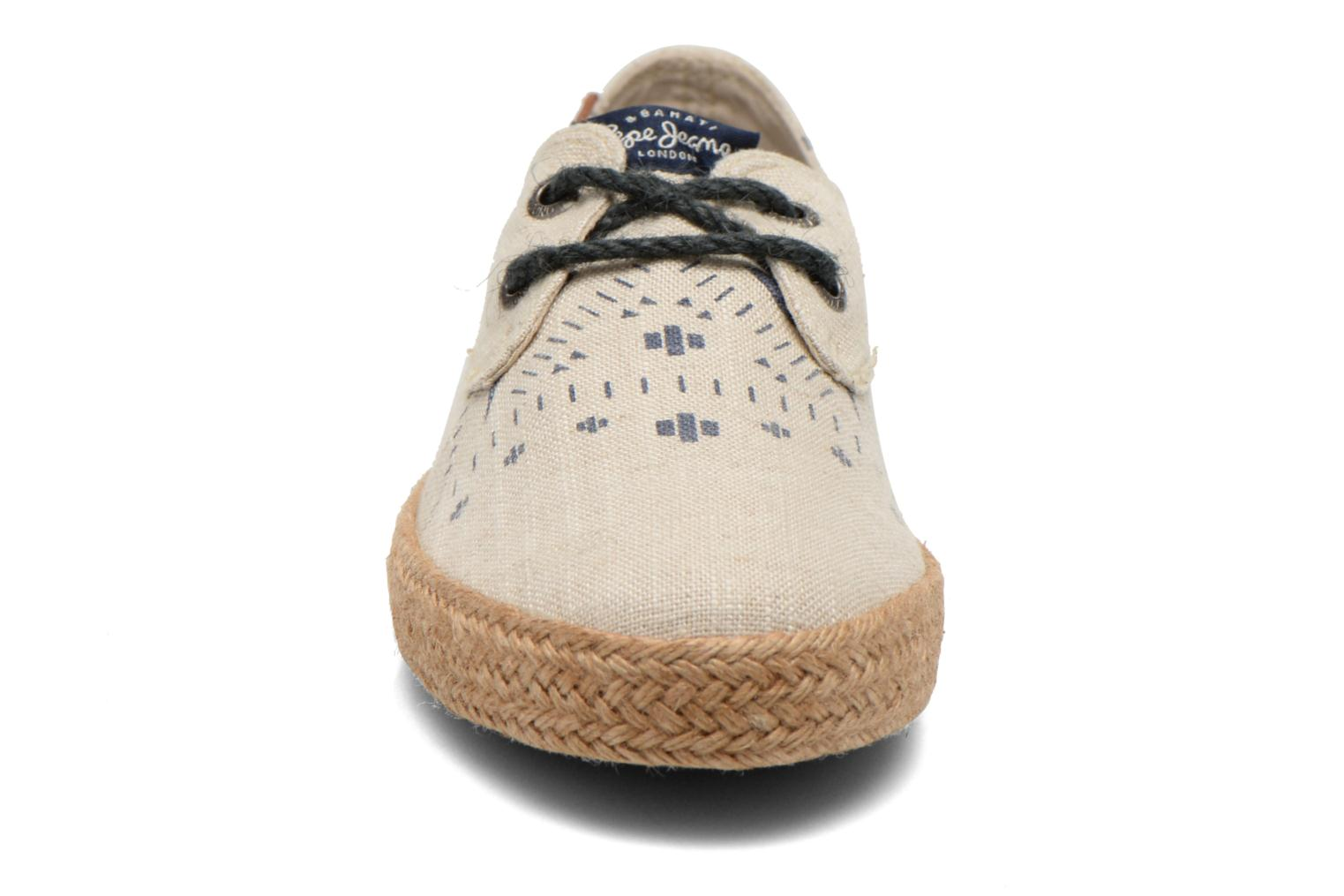 Espadrilles Pepe jeans &Bahati Abat Junior Beige model view