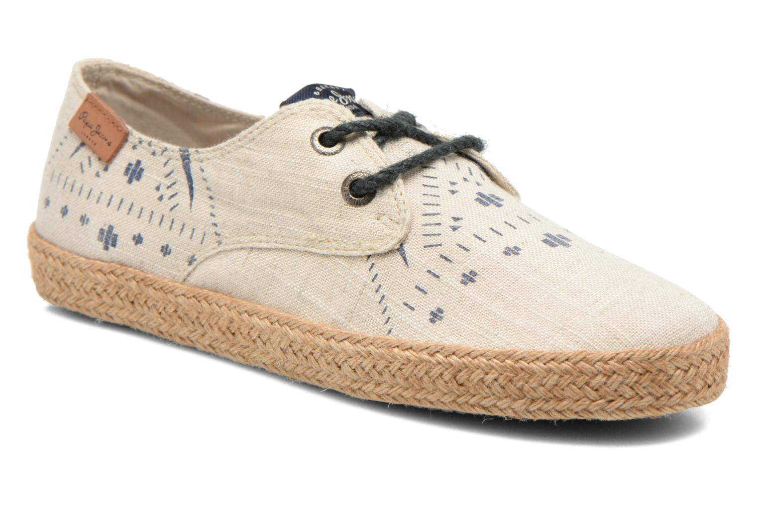 Espadrilles Pepe jeans &Bahati Abat Junior Beige detailed view/ Pair view