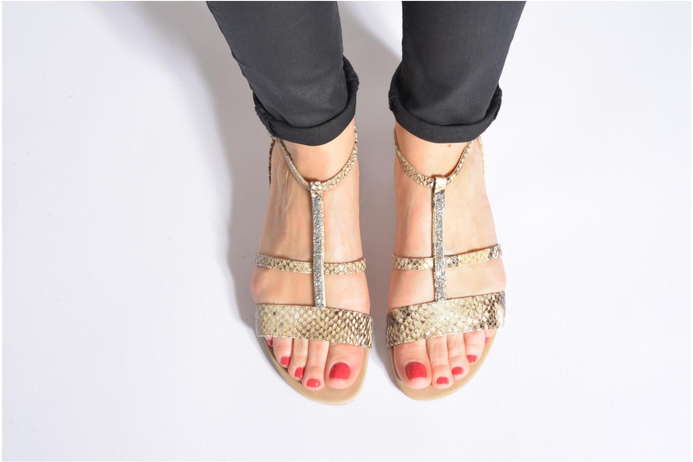 Sandales et nu-pieds Unisa Aniol Beige vue bas / vue portée sac