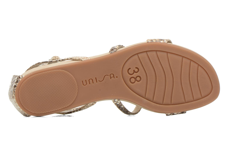 Sandales et nu-pieds Unisa Aniol Beige vue haut