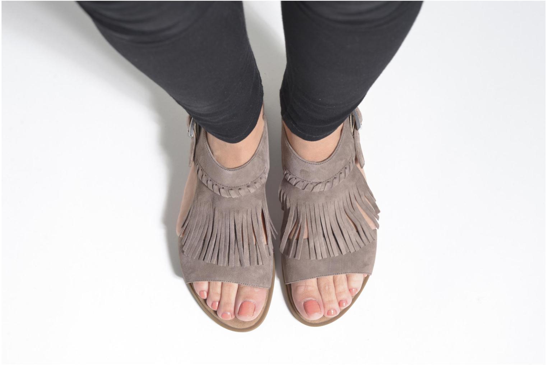 Sandales et nu-pieds Unisa Amolo Marron vue bas / vue portée sac